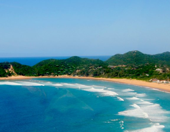 Ponta do Ouro Bay arial view (1)